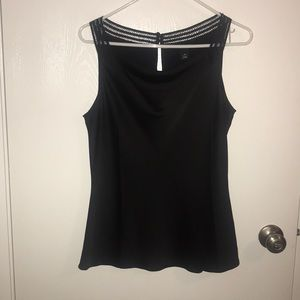 WH | BM Black Silky Tank Top